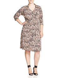 Vince Camuto Plus Leopard Print Wrap Dress Palomino