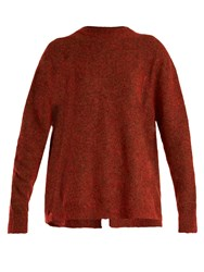 Ellery Tambourine Mohair Blend Sweater Red Multi