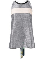 Aviu Back Detail Top Women Cotton Polyester Spandex Elastane Polyimide 40 Grey