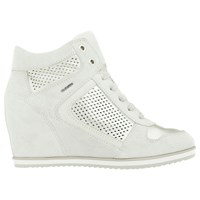 Geox Illusion Hidden Wedge Trainers Off White