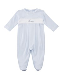 Kissy Kissy Premier Train Pima Footie Playsuit Size Newborn 9M Blue