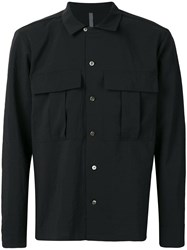 Attachment Oversized Chest Pocket Shirt Black