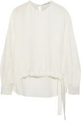 Agnona Silk Crepe Top White