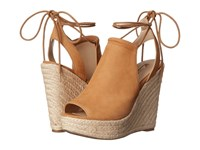 Guess Orristi Tan Suede Women's Wedge Shoes