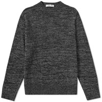Inis Meain Donegal Linen Crew Knit Black