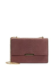 Ivanka Trump Mara Embossed Convertible Leather Crossbody Garnet