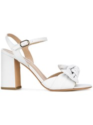 Fratelli Rossetti Twist Detailed Block Heel Sandals White