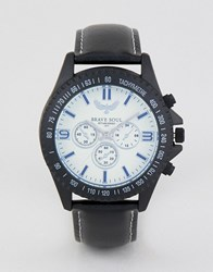 Brave Soul Chronograph Watch With White Dial Black