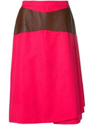 Gianfranco Ferre Vintage Contrast Detail Skirt Pink And Purple