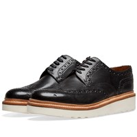 Grenson Archie V Brogue Black
