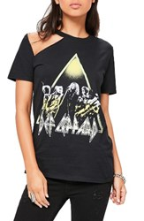 Missguided Women's Def Leppard Graphic Tee