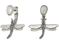 Lucky Brand Dragonfly Earrings Jacket Silver Earring