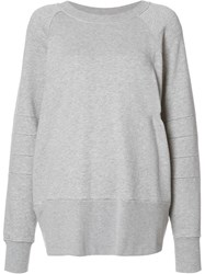 The Squad Oversized Crew Neck Sweatshirt Grey