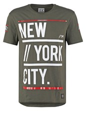 Brooklyn's Own By Rocawear Loose Fit Print Tshirt Dark Green