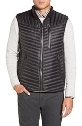 Men's Tumi 'On The Go' Quilted Down Vest Black