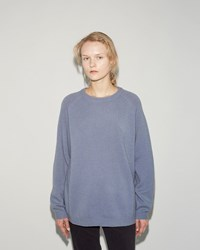 Norse Projects Ajo Felt Pullover Blue Melange