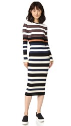 Opening Ceremony Striped Maxi Dress Harvest White Multi