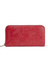 Tomas Maier Embossed Leather Wallet Red