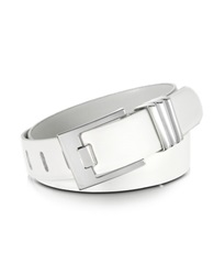 Forzieri White Leather Belt