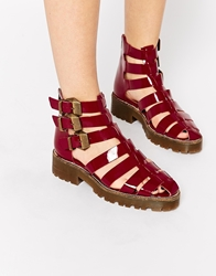 Tba To Be Announced Arrows Chunky Gladiator Sandals Redpatent