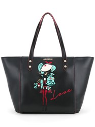 Love Moschino Doll Patch Shopping Bag Women Polyurethane One Size Black