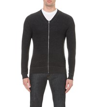 Sandro Drive Wool Cardigan Heather Charcoal