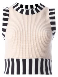 Givenchy Knitted Sleeveless Top Pink Purple