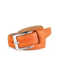 Pakerson Men's Orange Hand Painted Italian Leather Belt