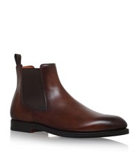 Santoni Colin Chelsea Boots Male Brown