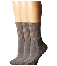 Thorlos Hiking Crew 3 Pair Pack Pewter Women's Crew Cut Socks Shoes