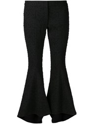 Rosie Assoulin Dot Embossed Flared Trousers Black