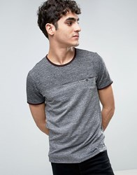 Ted Baker Marl T Shirt In Cut And Sew Charcoal Grey