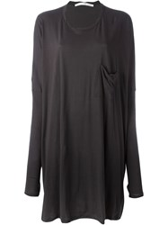Isabel Benenato Oversized Jersey Dress Grey