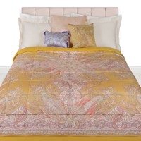Etro Rickman Quilted Bedspread 270X270cm Yellow