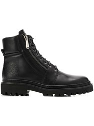 Balmain Army Lace Up Boots Black