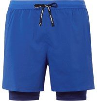 Nike Running Stride 2 In 1 Flex Dri Fit And Mesh Shorts Blue