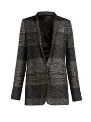 Haider Ackermann Bussey Single Breasted Tweed Blazer Black Multi