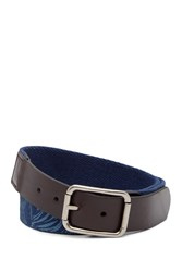 Tommy Bahama Reversible Printed Washed Web Belt Navy