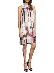French Connection Cornell Sheer Print Dress Neon Nectar Multi