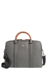 Ted Baker London Crossgrain Document Briefcase Grey Charcoal