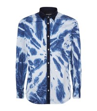 Dsquared2 Tie Dye Shirt Male Blue