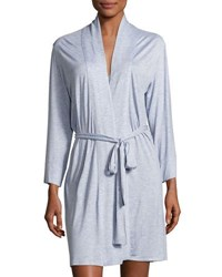 Natori Feathers Essential Short Jersey Robe Black