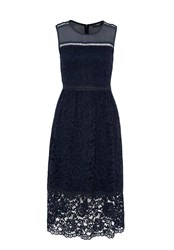 Hallhuber Midi Lace Dress Navy