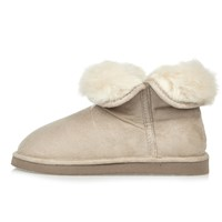 River Island Womens Cream Faux Fur Lined Soft Slipper Boots