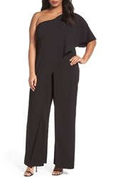 Adrianna Papell Plus Size Women's One Shoulder Jumpsuit
