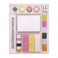 Kate Spade Brand Colours Tackle Box Stationery Set