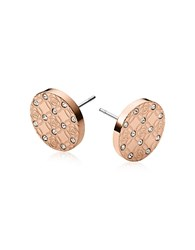 Michael Kors Heritage Metal Earrings W Crystals Rose Gold