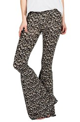 Junior Women's Volcom 'Heavy Petal' Print Leggings Black