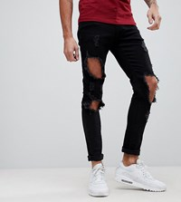 Brooklyn Supply Co. Co Super Skinny Jeans With Heavy Distressing Bl1 Blue 1
