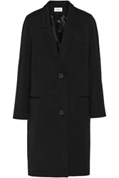 Christophe Lemaire Wool And Cotton Blend Coat Black